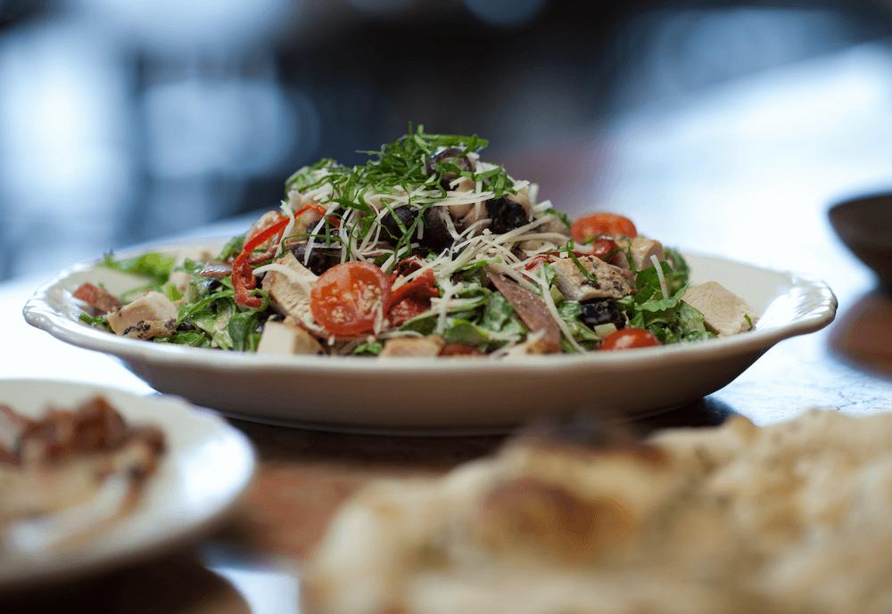 Fresh handmade salads served at Fondi Pizzeria in Gig Harbor, WA.