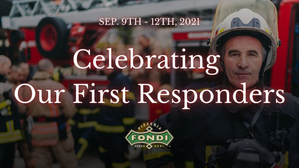 First Responder Discount at Fondis Pizzeria in Gig Harbor, WA